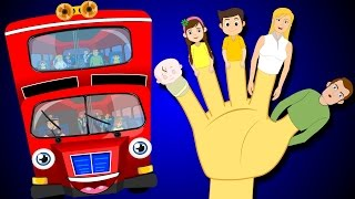 MASH-UP: Finger Family and Wheels on the Bus | Finger Family Rhymes | British Kids Songs