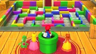 Mario Party 10 - All Tough Minigames - Mario vs Luigi vs Peach vs Daisy
