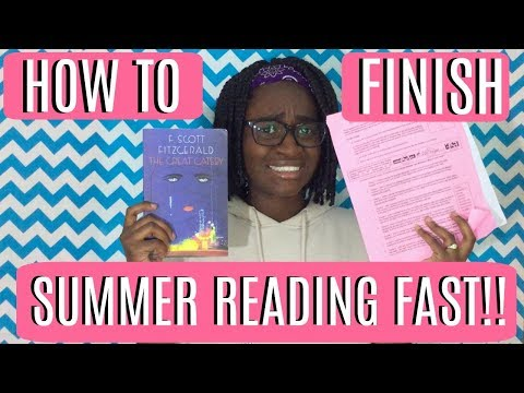 How to finish your summer reading FAST! || Nyalareyxx