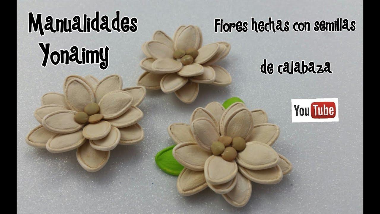 calabazas decorativas flores hechas con semiilas de calabaza para realizar un cuadro decorativo youtube