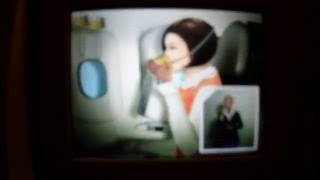 alitalia boeing 777 200 safety on board video