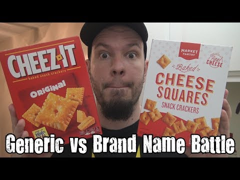 Generic vs Brand Name Battle - Cheez It