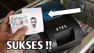Cetak foto pake mini printer thermal bluetooth