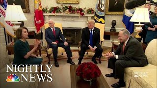 In Public Fight With Schumer, Pelosi, Trump, He'd Be Proud To Shut Down Gov Over | NBC Nightly News