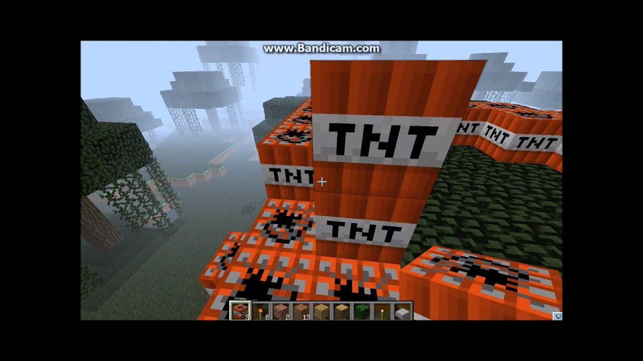 minecraft之TNT(炸藥)的威力 - YouTube