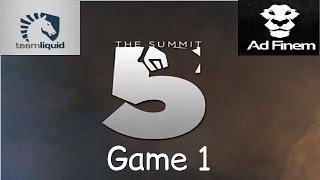 liquid vs ad finem game 1 the summit 5 qf highlights