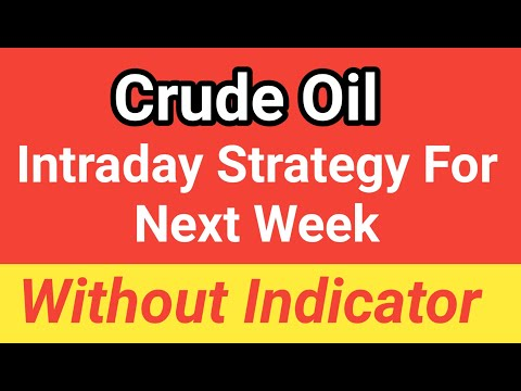 Crude Oil Trading | Mcx Crude Oil Intraday Trading Strategy Without Indicator | Crude Oil Intraday