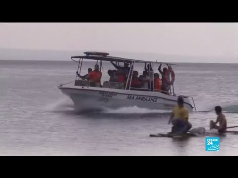 Rescue workers race