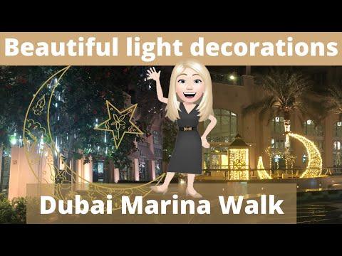 Street Lights Dubai Marina Style for #shorts