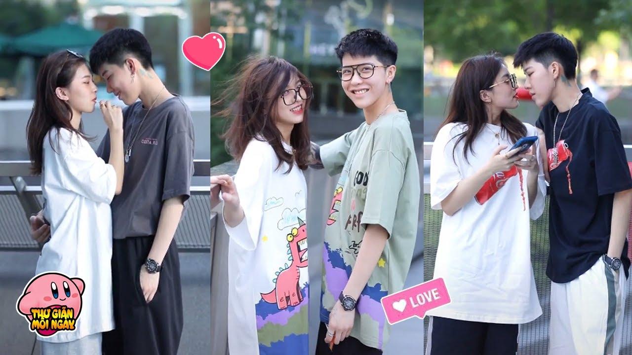Tik Tok Trung Quốc - Cặp đôi bách hợp  Phương Thời Thất × Mã Tổng  siêu cute và ngọt ngào #4