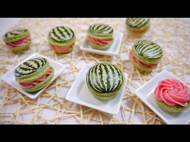 Watermelon Macaron スイカマカロン