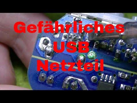 1 Euro 5 Volt Netzteil Multi Port USB Charger 3 Ports zerlegen - eflose #875