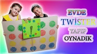 Evde Twister yapıp oynuyoruz. Twister nasıl yapılır,  nasıl oynanır.