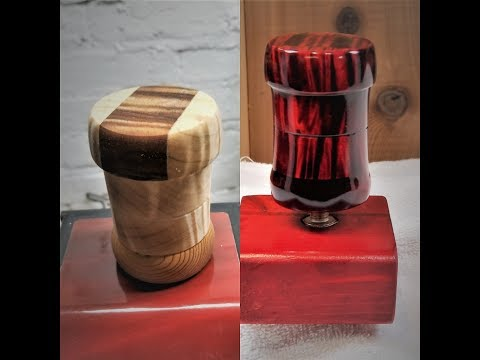 Made Custom Gear Shift Knob With Candy Apple Red Wood Color For This Shifter