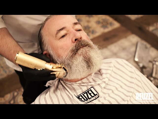 STEP BY STEP: A DELUXE barbershop beard trim by Miky from Schorem