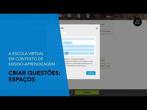 Escola Virtual | Criar questões: espaços