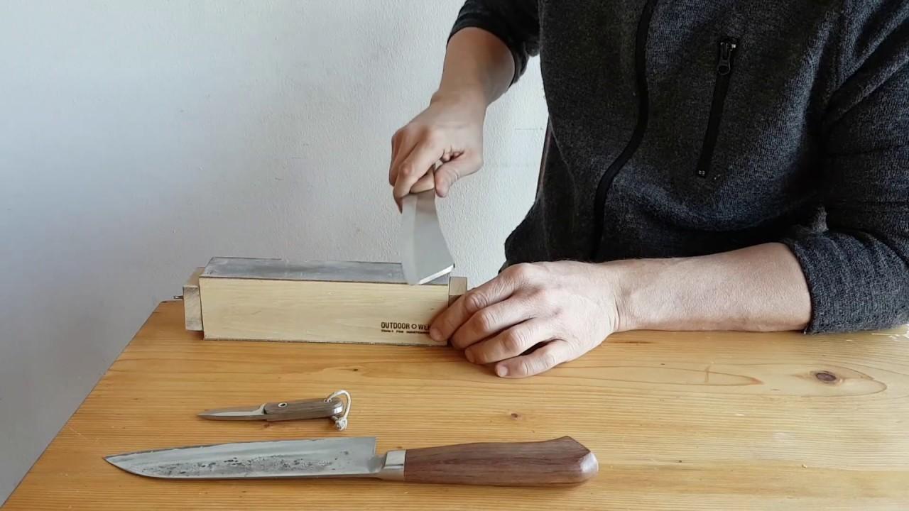 Schleifblock – unterschiedliche Messer schleifen - YouTube