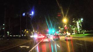 Orlando Fl : Driving on international Drive , Christmast night 2014