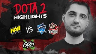NAVI Dota2 Highlights vs Vega Squadron, Team Empire @ PGL Open Bucharest