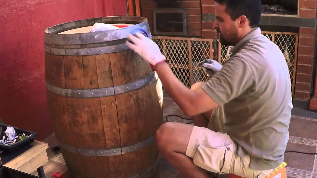Manos a la obra c mo hacer un barril bar parte 1 for Fabricacion de bares de madera