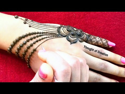 Jewellery Mehndi Design -Simple and Easy  Thought of Creation thumbnail
