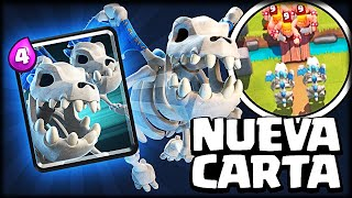 NUEVA CARTA *DRAGONES ESQUELETOS* GAMEPLAY EN EXCLUSIVA - Sneak Peek - Clash Royale - WithZack