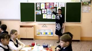 Урок ИЗО Елены Токсаровой в лицее № 9 им. А.С. Пушкина в г. Зеленодольске