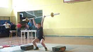 Тяжёлая атлетика Влад Макаревич, 11 лет, вк 42 Рывок 18 кг