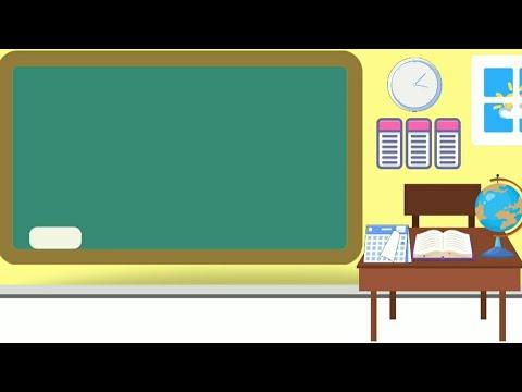 Foto Background Kelas Keren Background Animasi Kartun Bergerak No Copyright Latar Belakang Ruangan Kelas Papan Tulis School Youtube
