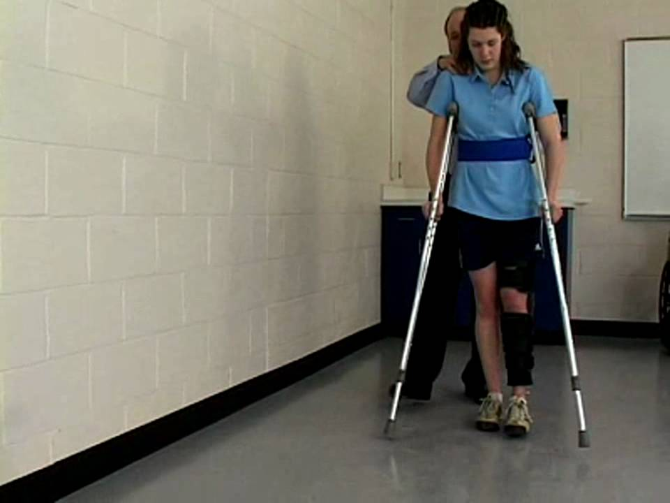 how to get up stairs with crutches