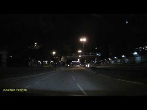 Blaupunkt Dashcam DVR BP 2.0 FHD Night Time Result And Minor Accident Ahead