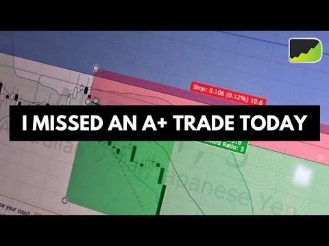 Missing An A+ Trade In The Forex Market Today! :(