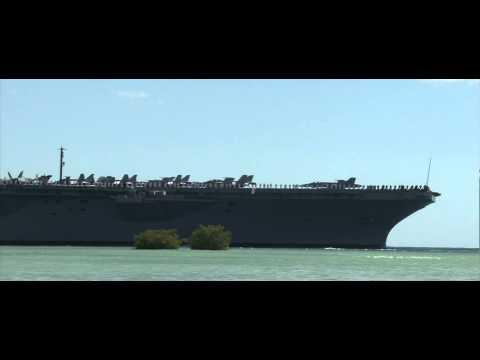 USS Nimitz Aircraft Carrier Crosses Pearl Harbor - RIMPAC 2012