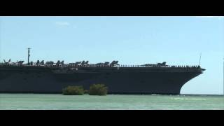 USS Nimitz Aircraft Carrier Crosses Pearl Harbor - RIMPAC 2012