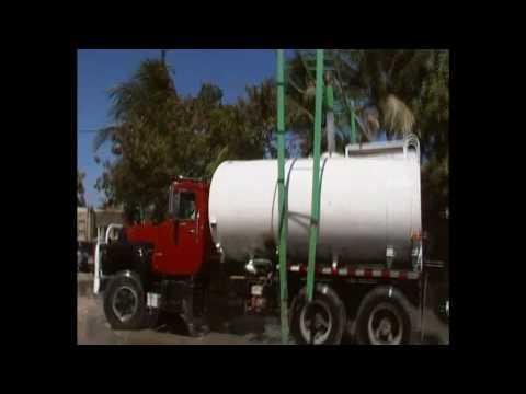 Haiti Water Trucks, where they fill up at