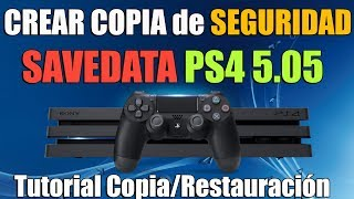 Crear Copia de Seguridad de Savedata PS4 5.05 HEN