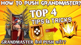 HOW TO REACH GRANDMASTER - TOP 4 BEST TIPS AND TRICKS - #JONTYGAMING - GARENA FREEFIRE BATTLEGROUND