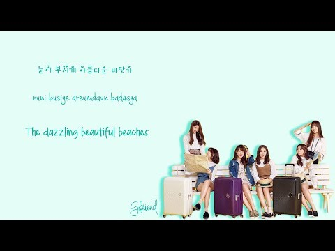 GFriend (여자친구) X American Tourister - Wave (파도) (Color-Coded-Lyrics(Han/Rom/Eng))