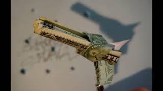Painting Money Origami 1$ Gun