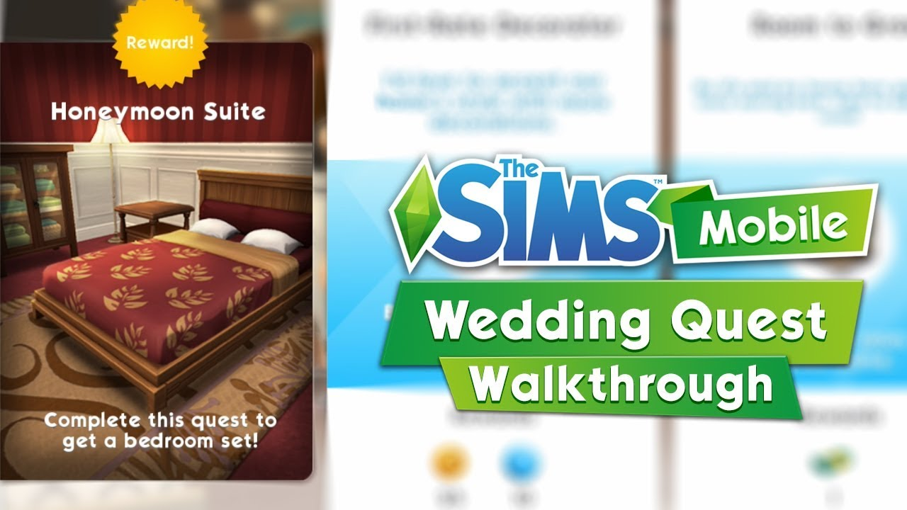 The Sims Mobile: The Wedding Quest Walkthrough / Honeymoon Suite ...