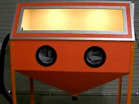Homebuilt blast cabinet - YouTube