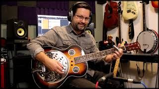 Gear4Music Round Neck Resonator guitar