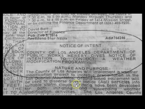 Government Quietly Admits Weather Modification, Sets up In Southern California