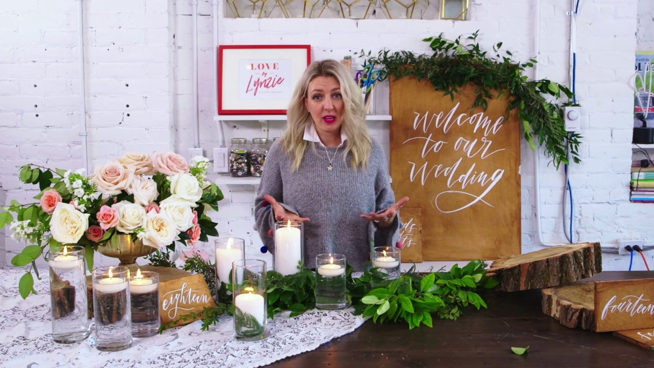 Create Your Own Greenery Filled Wedding Decor With Lynzie Kent Youtube