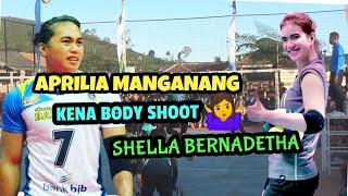 Aprilia Manganang Kena BODY SHOOT Shella Bernadetha Penonton Sontak Gemuruh