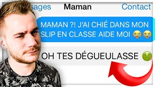 LES PIRES SMS DES PARENTS ! MAMAN VS PAPA
