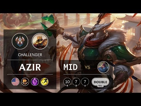 Azir Mid vs Yasuo - NA Challenger Patch 9.24