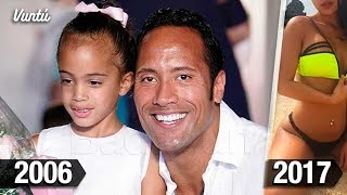 Así luce la hija de La Roca 11 años después. Por eso es el suegro más cotizado de Hollywood