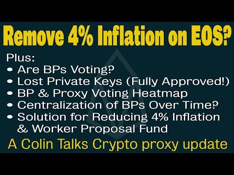 EOS Upgrade Proposals & Polls –Lost Keys, REX, WPF, BP Voting, Should We Remove 4% Inflation on EOS?