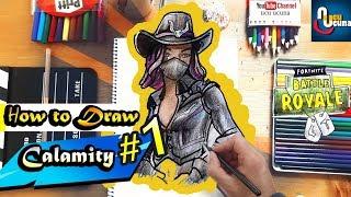 How to Draw Calamity Max Skin | Fortnite / Ucu ucuna